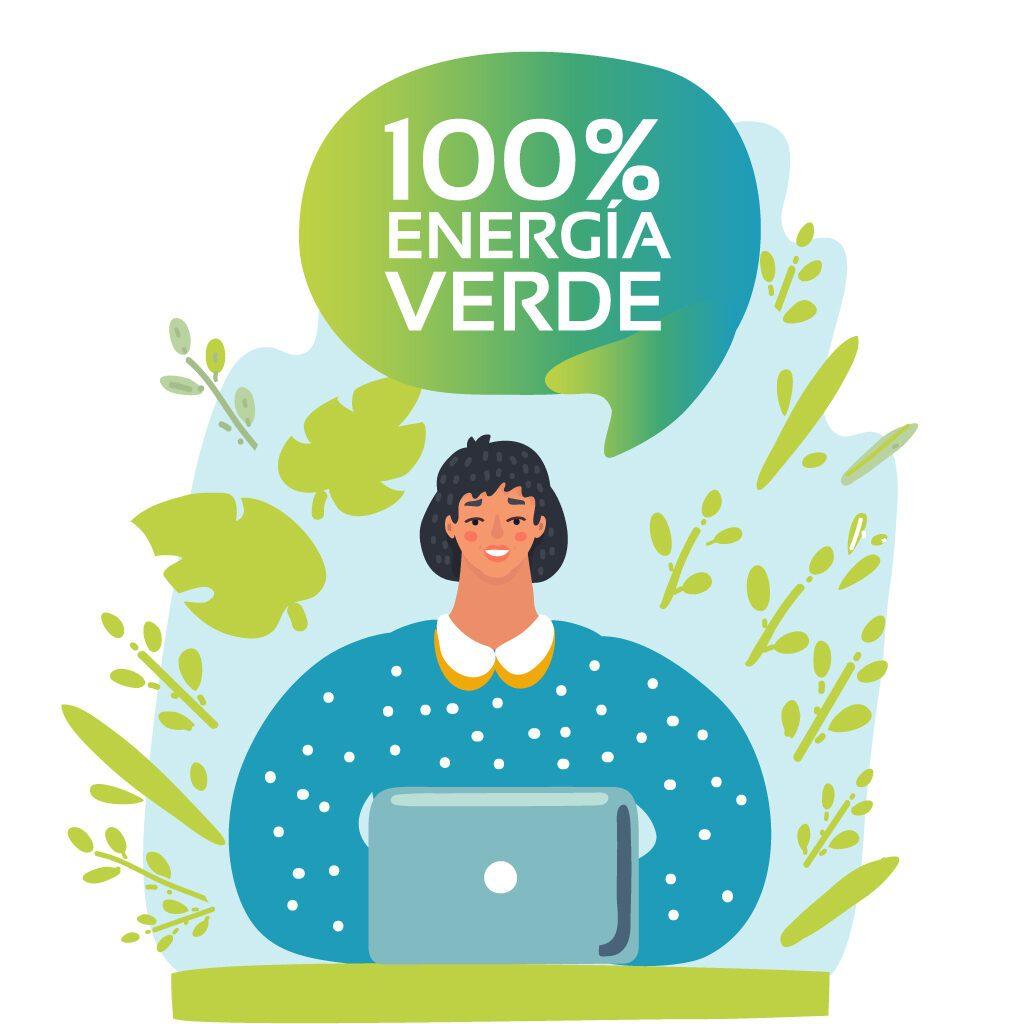 energía verde renovable 100 %